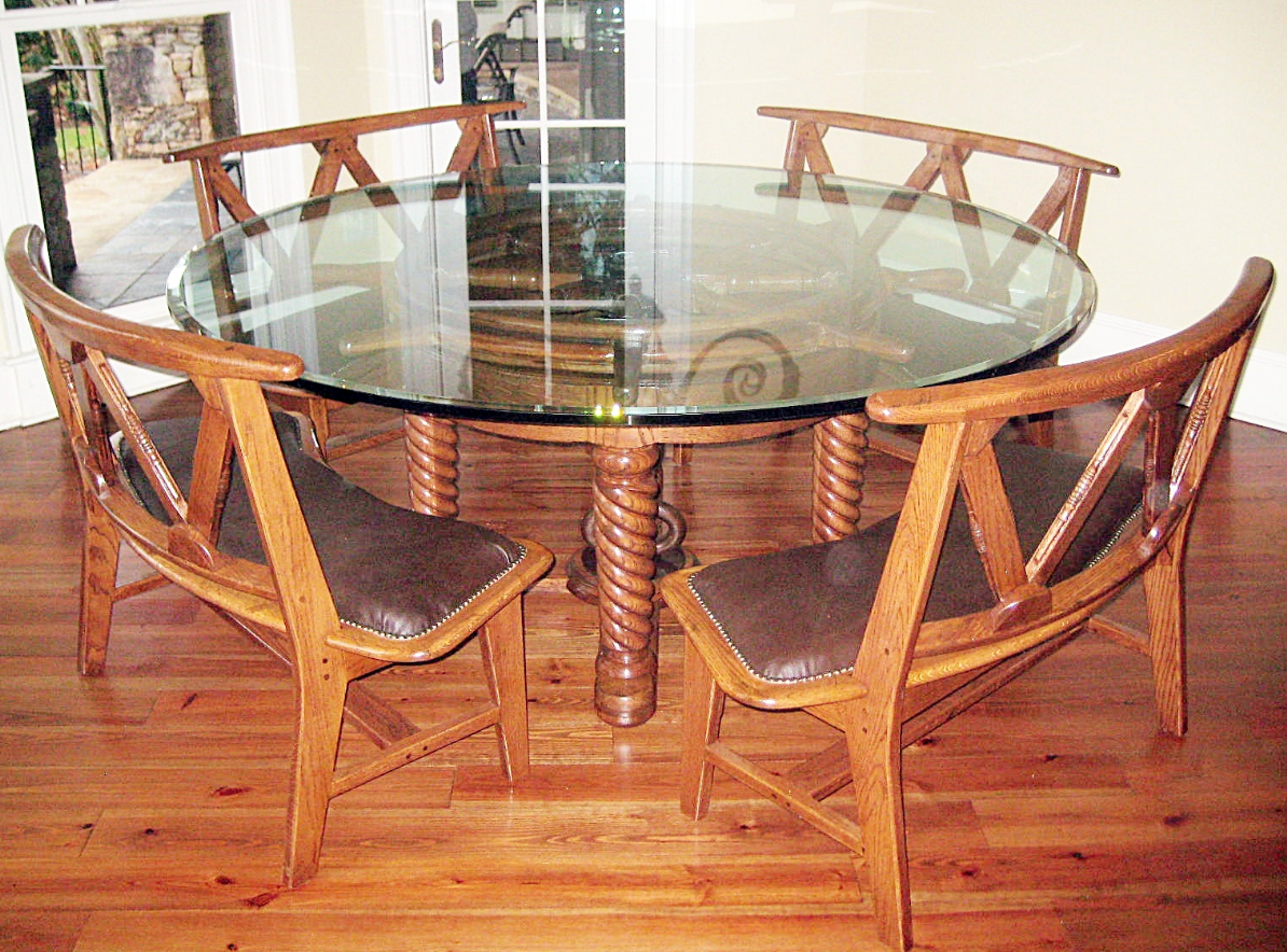 Tables Ship s wheel dining table  Custom Tables   Gary Forte Woodworking   Tables. Ship Dining Room Set. Home Design Ideas